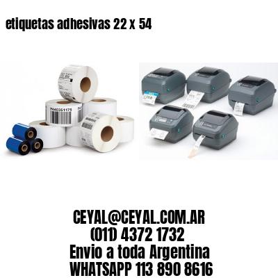 etiquetas adhesivas 22 x 54