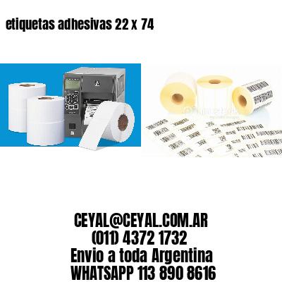 etiquetas adhesivas 22 x 74