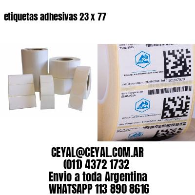 etiquetas adhesivas 23 x 77