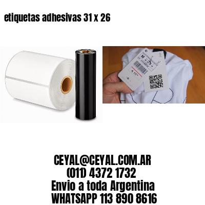 etiquetas adhesivas 31 x 26