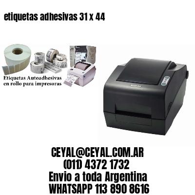 etiquetas adhesivas 31 x 44