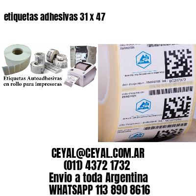 etiquetas adhesivas 31 x 47