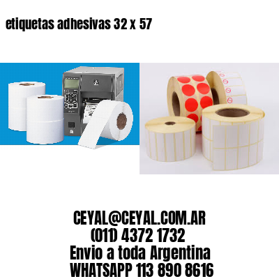 etiquetas adhesivas 32 x 57