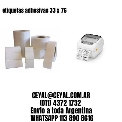 etiquetas adhesivas 33 x 76