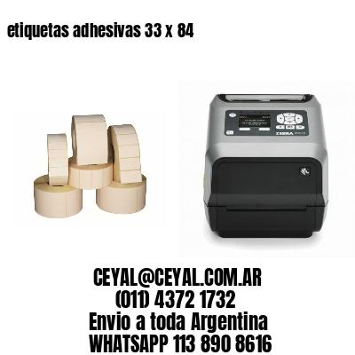 etiquetas adhesivas 33 x 84