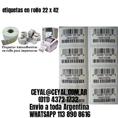 etiquetas en rollo 22 x 42