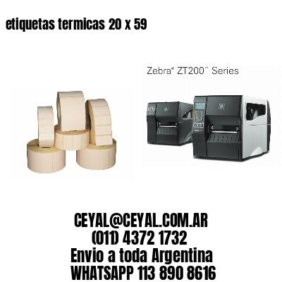 etiquetas termicas 20 x 59