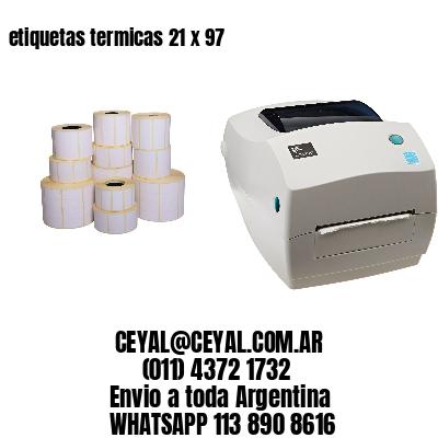 etiquetas termicas 21 x 97