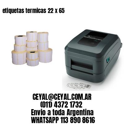 etiquetas termicas 22 x 65