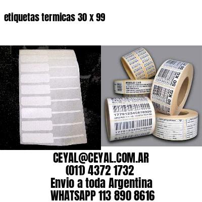 etiquetas termicas 30 x 99