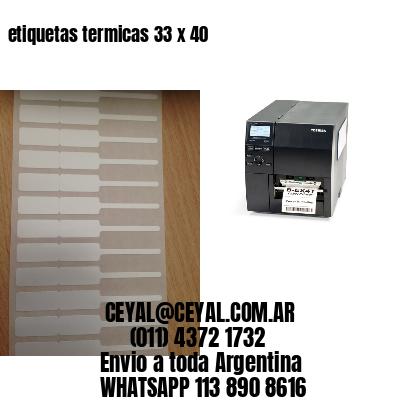 etiquetas termicas 33 x 40
