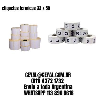 etiquetas termicas 33 x 50